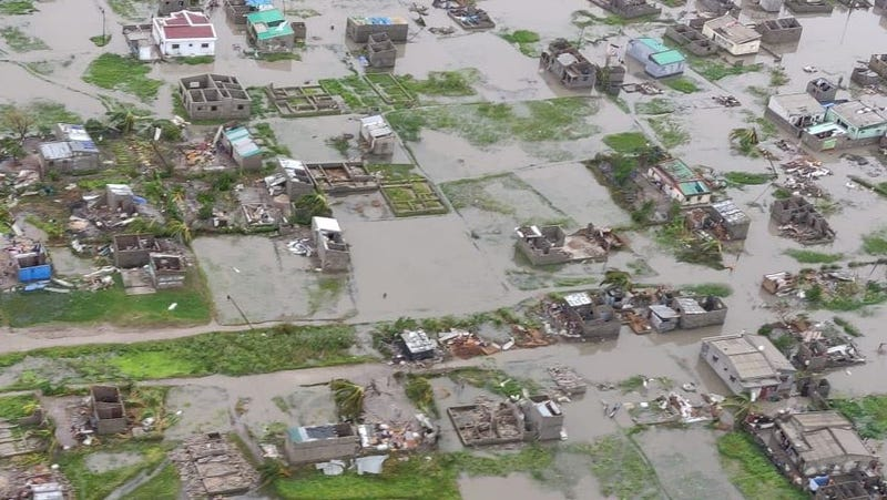 The cyclone destroyed 90 percent of Beira, Mozambique, estimates the International Federation of Red Cross and Red Crescent Societies.