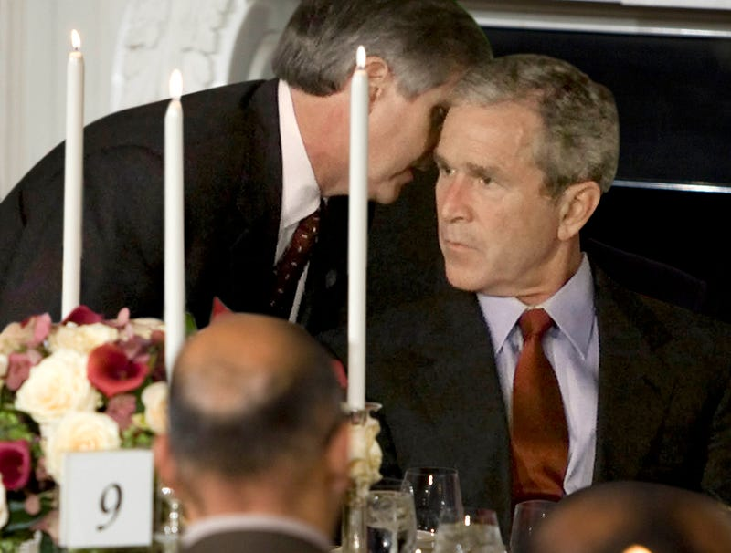 Illustration for article titled Aide Interrupts Event To Inform Bush About 10th Anniversary Of 9/11