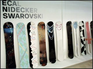 Illustration for article titled These Swarovski Snowboards Will Get Stolen If You Bring Them to Snowmodo