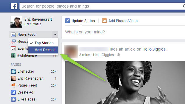 How To Bring Back Facebook's 'Most Recent' View In The New News Feed
