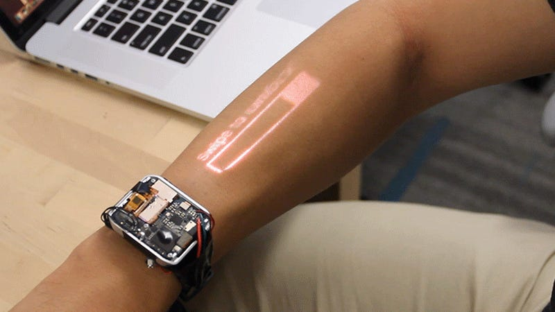 The World's First Working Projector Smartwatch Turns Your Arm Into a Big Touchscreen
