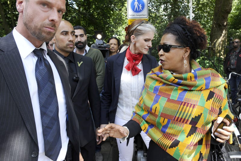 Verene Shepherd (right), a member of the United Nations' Working Group of Experts on People of African Descent, in 2014EVERT ELZINGA/AFP/Getty Images