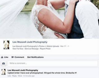 Illustration for article titled 'Ugliest Bride Ever': Wedding Photographer Insults Client on Facebook