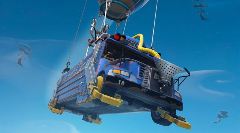 Illustration for article titled Fortnite Now Lets You Thank The Bus Driver