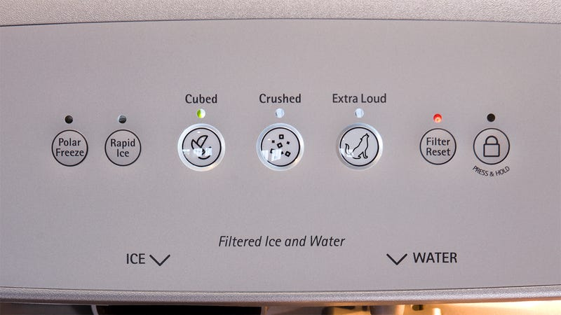 Illustration for article titled Animal Cruelty: Whirlpool Is Coming Out With A Refrigerator With An Extra-Loud Ice Machine Just To Fuck With Dogs