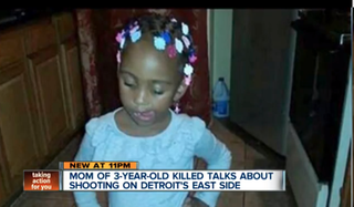 Three-year-old Amiracle Williams of Detroit was killed in a deadly shooting that authorities say was the result of a dispute on Facebook.WXYZ Detroit Screenshot