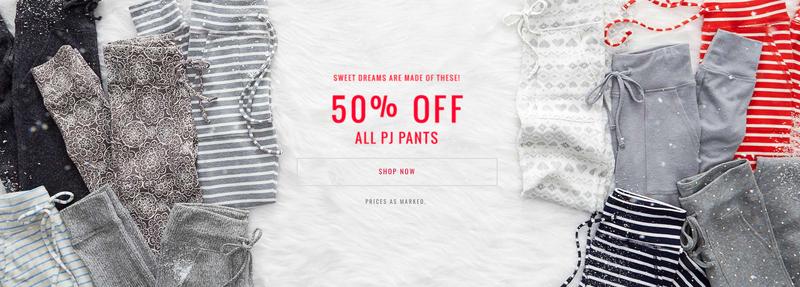 50% off all PJ pants | American Eagle