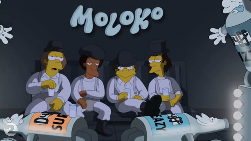 Illustration for article titled The Simpsons' A Clockwork Orange Parody Is A Brilliant Piece Of TV