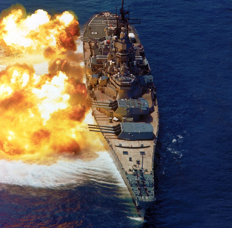 Illustration for article titled Spectacular photos of the US Navy's most powerful battleship ever