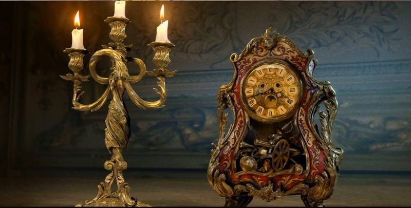 Illustration for article titled Your First Look at Lumière and Cogsworth in Disney's Beauty and the Beast Remake (UPDATED)