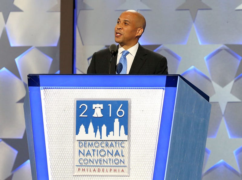 Sen. Cory Booker (D-N.J.) delivers remarks the first day of the Democratic National Convention at the Wells Fargo Center in Philadelphia on July 25, 2016. Paul Morigi/WireImage