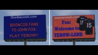 "Illustration for article titled The ""Play Tebow!!"" Billboard Is Live In Denver"