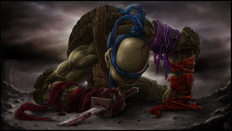 Illustration for article titled Is this the most gut-wrenching Ninja Turtles fan art ever made?