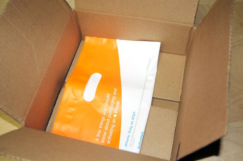 Illustration for article titled Geniuses at AT&T Rush Out a Package with Only a Plastic Bag Inside