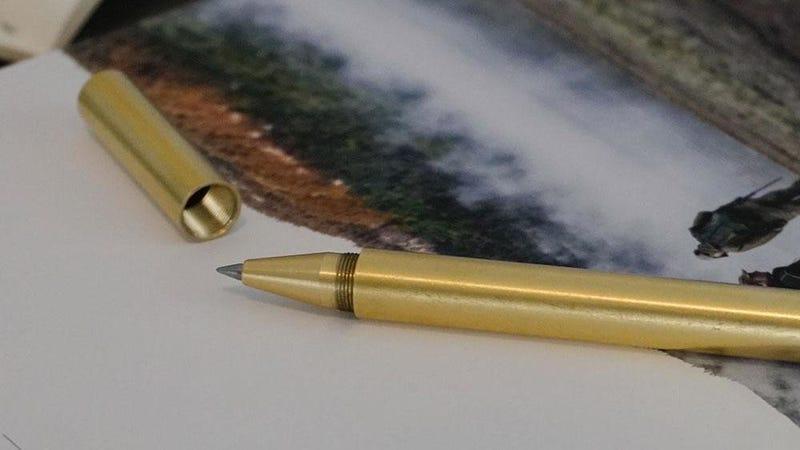 G50 Milled Brass Pen   $12   Gear Grit   Promo code GearGrit50kD