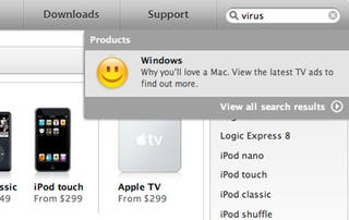 Illustration for article titled Apple Online Store Says Virus = Windows