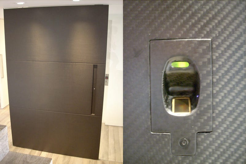 Illustration for article titled At the End of the Day, $15,000 Carbon Fiber Biometric Door Is Still Just A Door