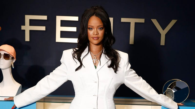 Rihanna hosts Fenty Launch on May 22, 2019 in Paris, France.