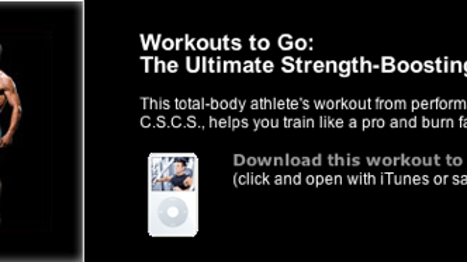 Download Free Video Workouts for Your iPod