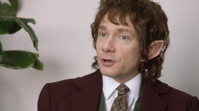 Illustration for article titled Martin Freeman Returns as Bilbo Baggins...To Sell Paper on SNL