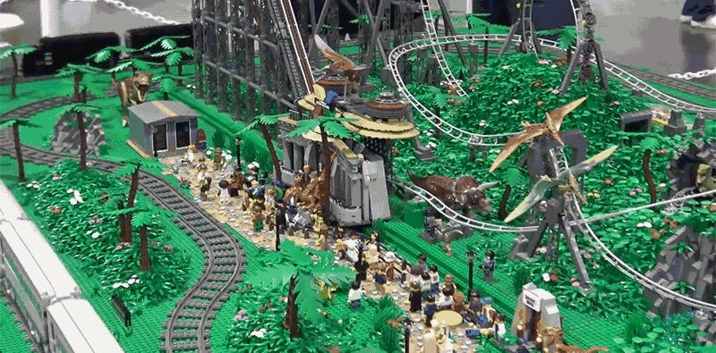 I want to visit this 145 000 piece lego jurassic park - Jurasic park lego ...