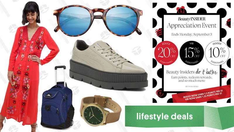 Illustration for article titled Monday's Best Lifestyle Deals: High Sierra, Sunski, ASOS, Fenty PUMA, Sephora, and More