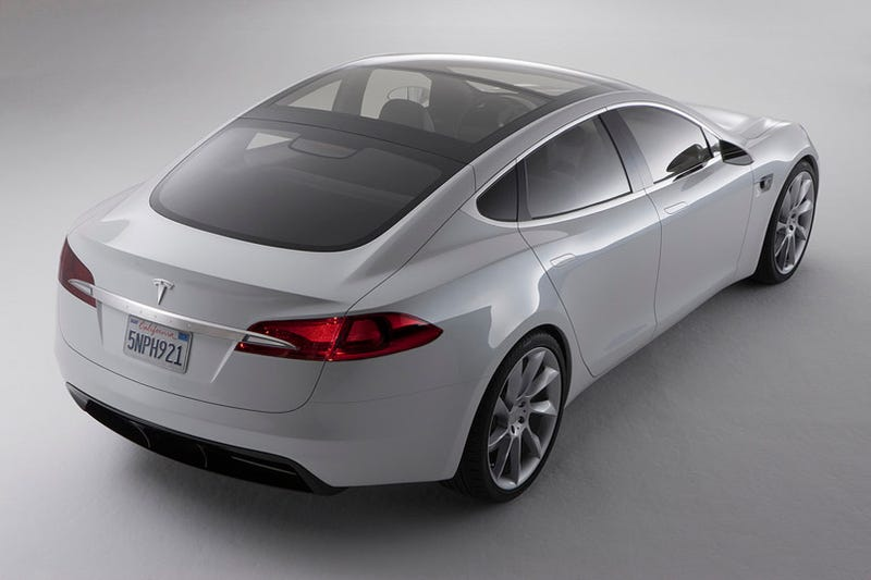 Illustration for article titled Tesla Model S Electric Sedan Prototype Has a Giant Touch Dashboard