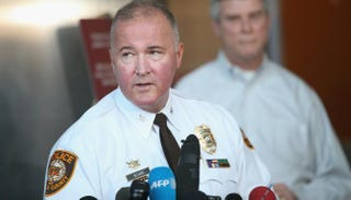 St. Louis County Police Chief Jon Belmar takes questions during a March news conference.Scott Olson/Getty Images