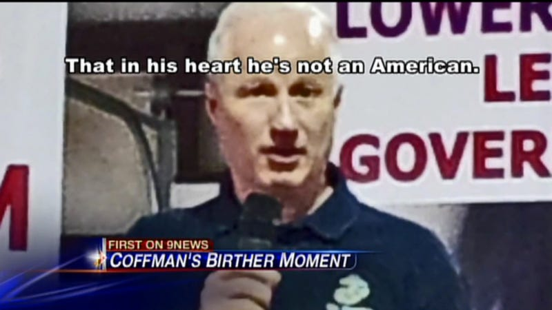Illustration for article titled Jackass Congressman Says Obama Is Not an American 'in His Heart'