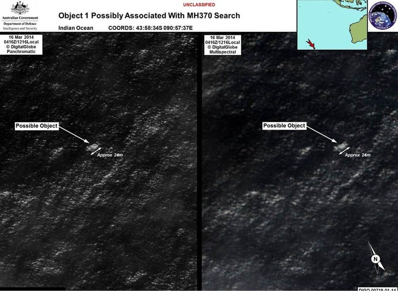 Illustration for article titled Satellite Finds Debris That Could Be Malaysia Airlines Flight 370