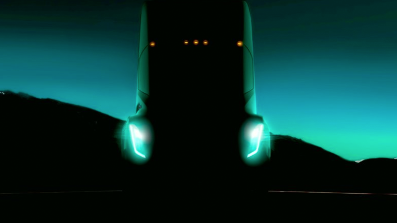 This Might Be Our First Look At Tesla's All-Electric Semi-Truck