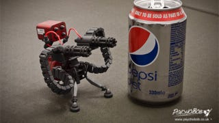 Illustration for article titled Tiny Team Fortress Guns Mean Certain Death For This Pepsi Can