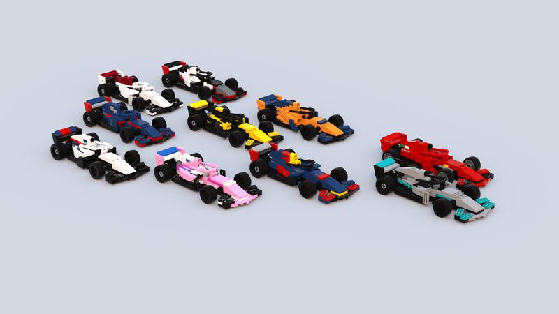 I Made The 2018 F1 Cars In Lego Bricks