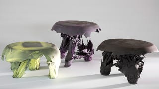 Illustration for article titled Ugly Gravity Stools Created With a Giant Magnet
