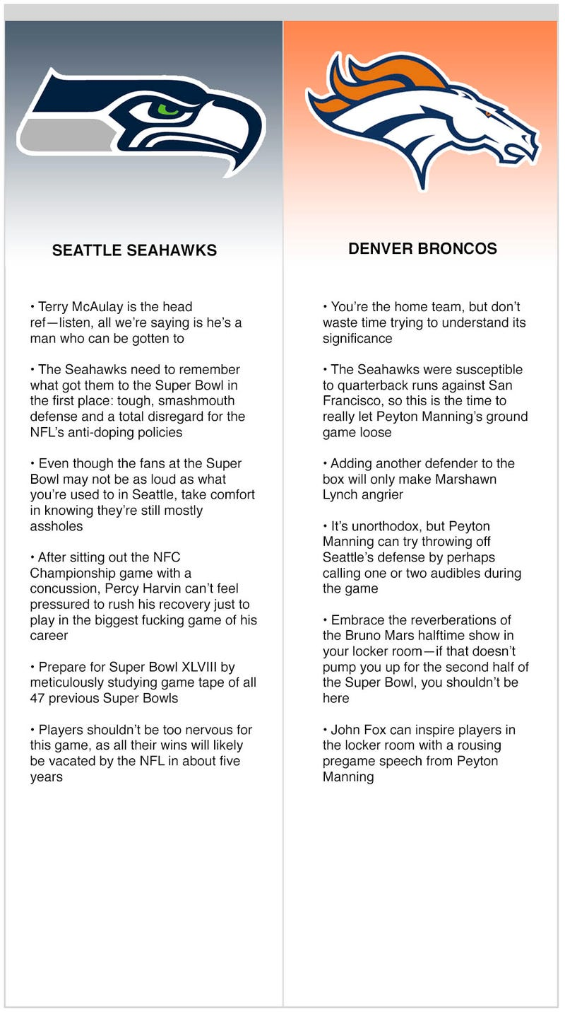 Illustration for article titled Seahawks vs. Broncos