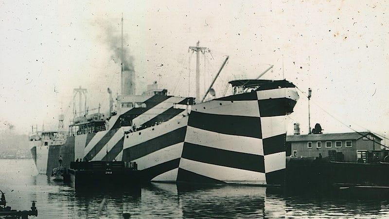 Illustration for article titled La fascinante historia de los barcos camuflados