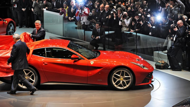 Illustration for article titled The Ferrari F12 Berlinetta's Unveiling In Geneva Is Fastest Ever
