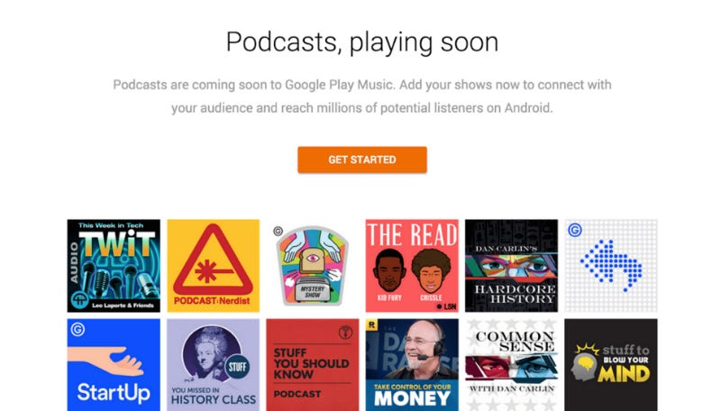 Illustration for article titled Google Play Music Will Soon Have Podcasts, Too