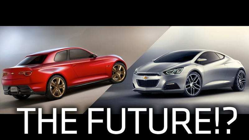 Illustration for article titled If These Detroit Auto Show Concepts Are Chevy's Future, Shoot Me Now