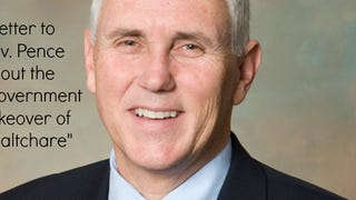 "A Letter to Gov. Pence About the ""Government Takeover of Healthcare"""