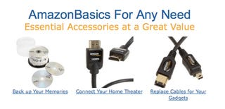 Illustration for article titled AmazonBasics Is Company's Foray Into Private Label Consumer Electronics