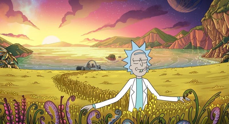 Illustration for article titled Rick just wants some peace of mind on a toilet-centric Rick And Morty