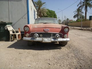 Illustration for article titled If Only Cars Could Talk: 1956 Thunderbird Down On The Baghdad Street
