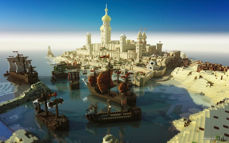 Illustration for article titled The Story Behind Those Stunning Game of Thrones-Minecraft Photos