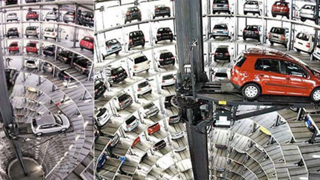 Vw 39 s automated parking garage for Garage volkswagen herault