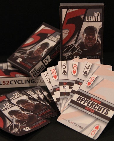 Illustration for article titled Need To Get In Shape? Ray Lewis Has A Deck Of Cards That Can Be Yours For $75.