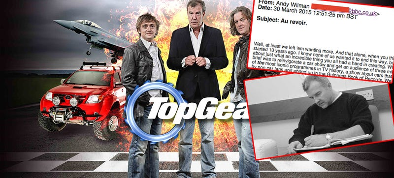 Illustration for article titled Top Gear's Head Producer Says Farewell In Leaked Email [UPDATE]