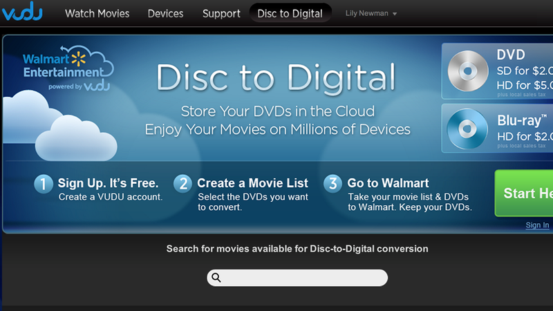 Illustration for article titled Walmart's For-Pay Blu-ray Ripping Is Now Slightly Less Annoying, Still Way Overpriced