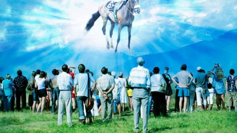 Illustration for article titled Ghost Of Barbaro Appears To Teach Nation True Meaning Of Barbaro Day