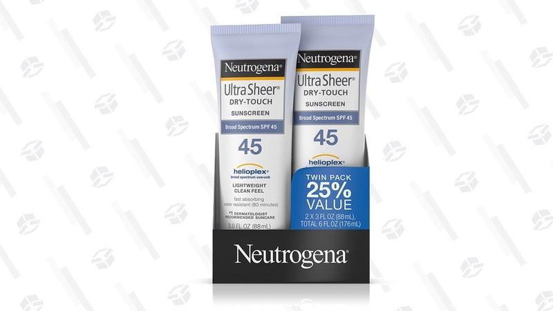 Neutrogena Ultra Sheer Dry-Touch Sunscreen   $11   Amazon